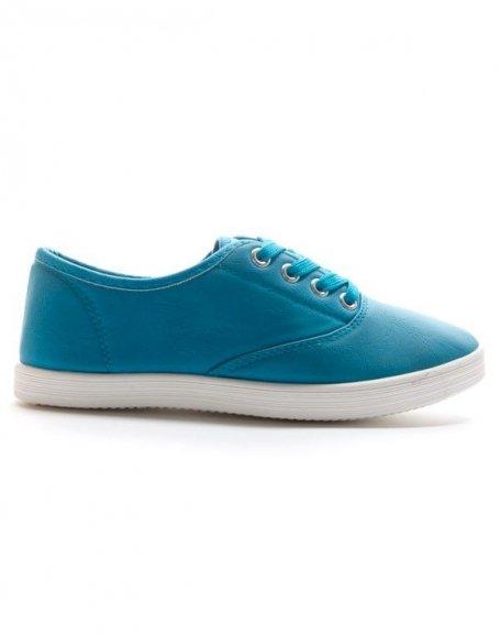 Chaussure femme Style Shoes: Tennis bleu clair canard