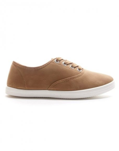 Chaussure femme Style Shoes: Tennis camel