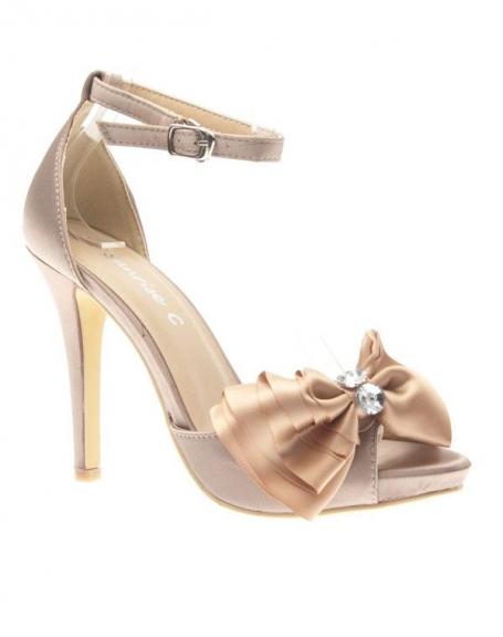 Chaussure femme Sunrise C: Escarpin satiné champagne