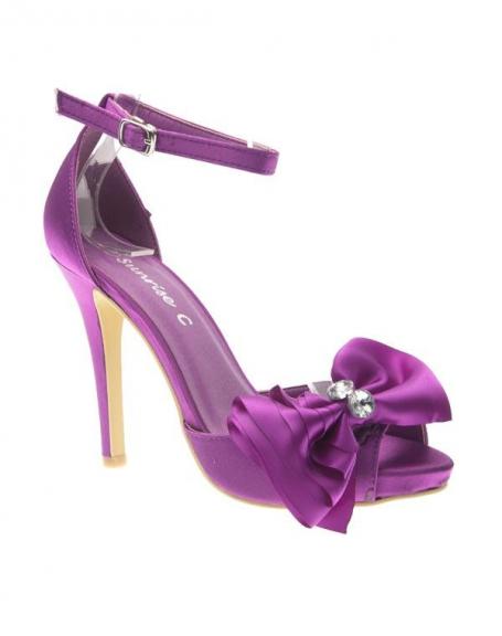 Chaussure femme Sunrise C: Escarpin satiné violet