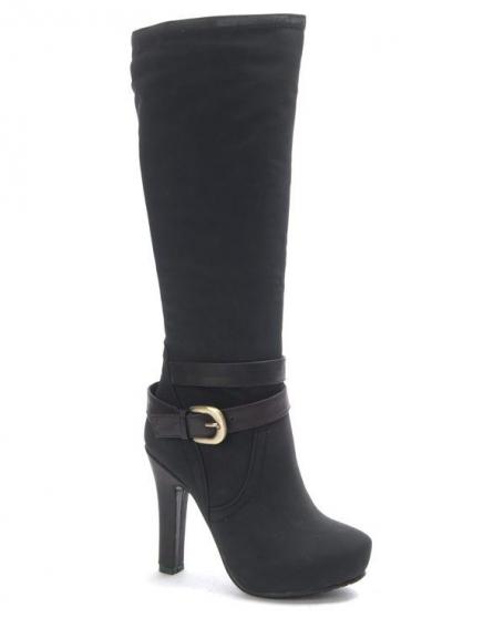 Chaussure femme SunriseC: Botte à talon noire