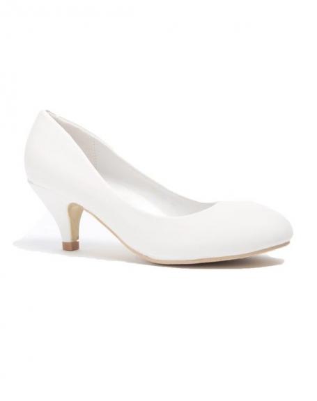 Chaussure femmes Style Shoes: Escarpins blanc