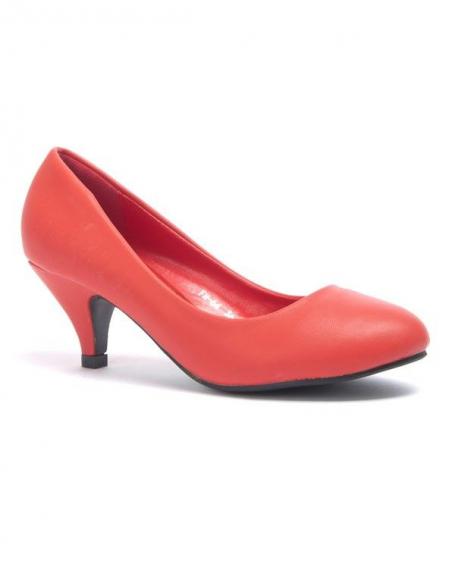 Chaussure femmes Style Shoes: Escarpins rouge