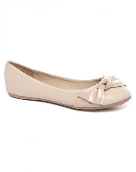 Chaussures femme Alicia: Ballerine beige