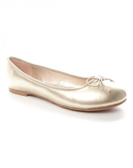 Chaussures femme Alicia: Ballerine couleur or