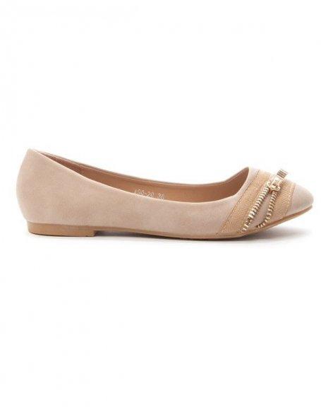 Chaussures femme Alicia: ballerine kaki