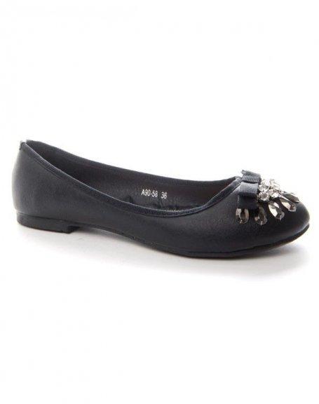 Chaussures femme Alicia: Ballerine noir