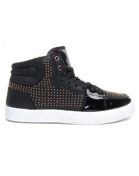 Chaussures femme Alicia: Basket à mini clous noir