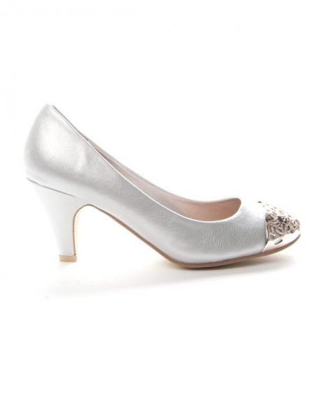 Chaussures femme Alicia: Escarpin bout doré - argent