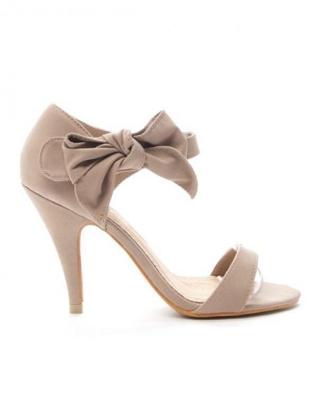 Chaussures femme Alicia: Escarpin ouvert - kaki