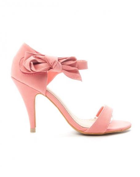 Chaussures femme Alicia: Escarpin ouvert - rose