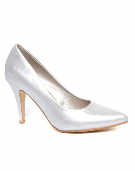Chaussures femme Alicia: Escarpins classiques argent