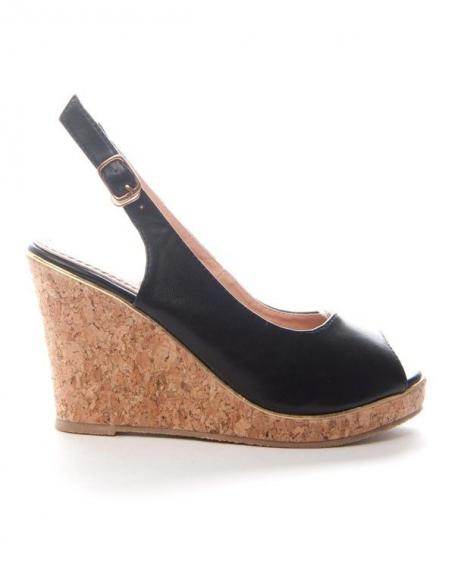Chaussures femme Alicia: Escarpins compensées - noir