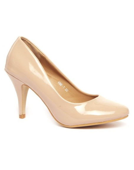 Chaussures femme Alicia: Escarpins vernis beige