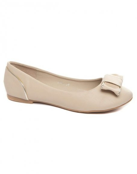 Chaussures femme Alicia Shoes: Ballerine beige