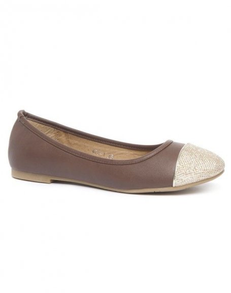 Chaussures femme Alicia Shoes: Ballerines marron