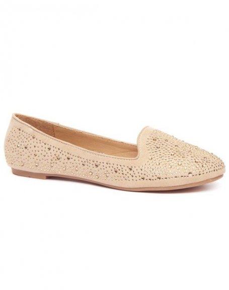 Chaussures femme Alicia Shoes: Ballerines slipper beige