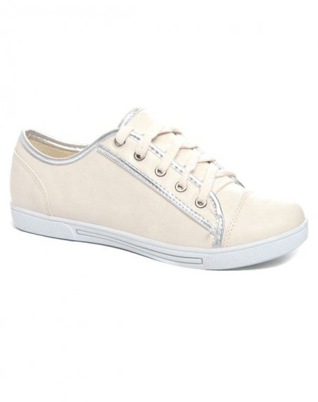 Chaussures femme Alicia Shoes: Basket basse beige
