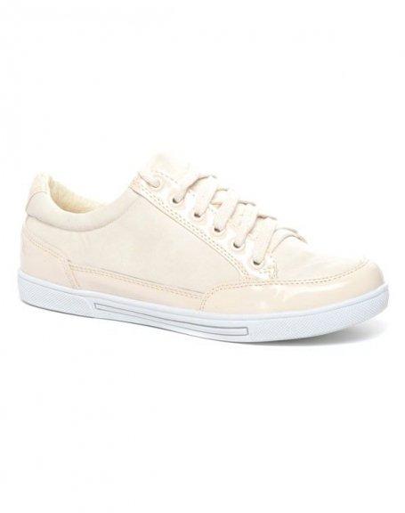 Chaussures femme Alicia Shoes: Basket crème/beige