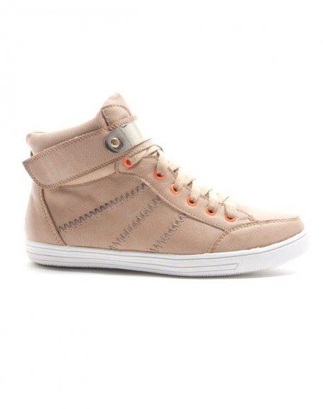 Chaussures femme Alicia Shoes: Basket mi montante - kaki