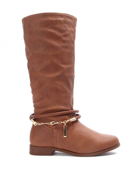 Chaussures femme Alicia Shoes: Botte camel