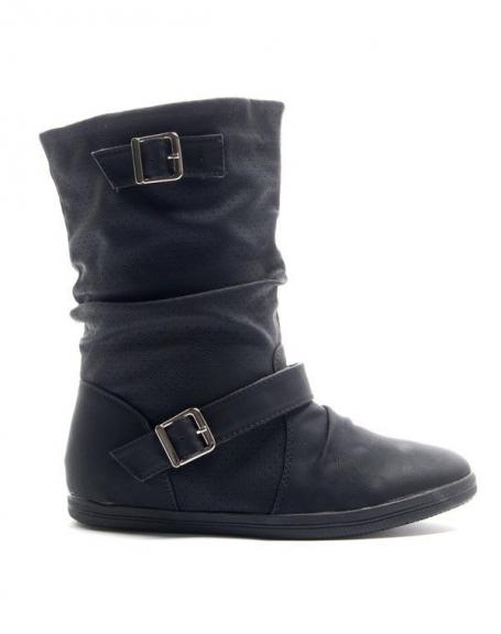 Chaussures femme Alicia Shoes: Botte style basket - noir