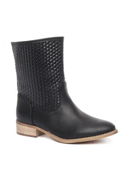 Chaussures femme Alicia Shoes: Botte style tressé noire