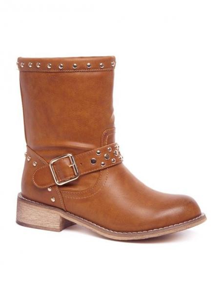 Chaussures femme Alicia Shoes: Bottes à clous camel