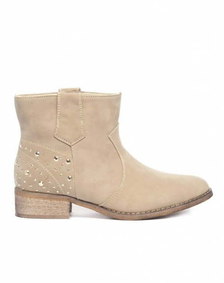 Chaussures femme Alicia Shoes: Bottes beige