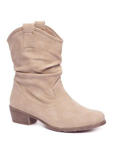 Chaussures femme Alicia Shoes: Bottes souples beige