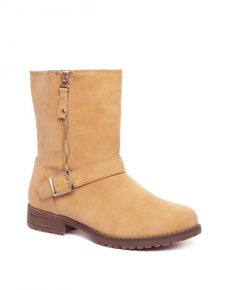 Chaussures femme Alicia Shoes: Bottines camels