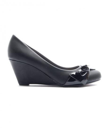 Chaussures femme Alicia Shoes: Escarpin compensé - noir