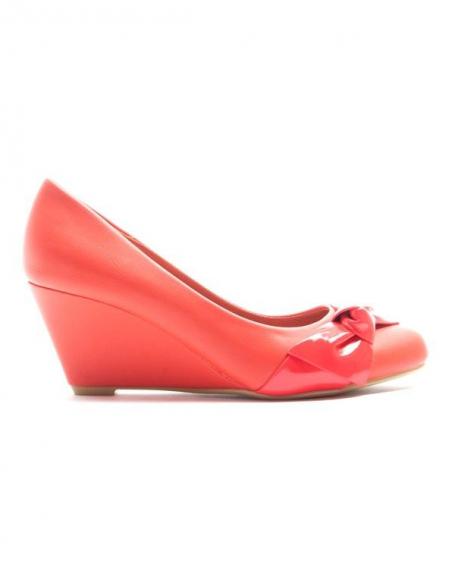 Chaussures femme Alicia Shoes: Escarpin compensé - rouge