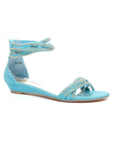 Chaussures femme Alicia Shoes: Sandale bleue
