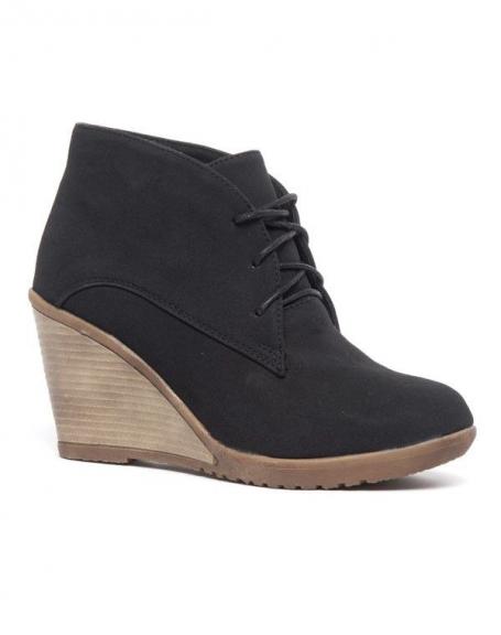 Chaussures femme Bellucci: Derbies compensés noirs