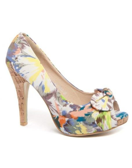 Chaussures femme Bellucci: Escarpin fleuri jaune