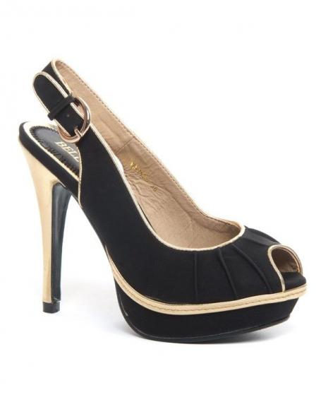 meilleures chaussures prix raisonnable acheter mieux Chaussures femme Bellucci: Escarpin ouvert noir
