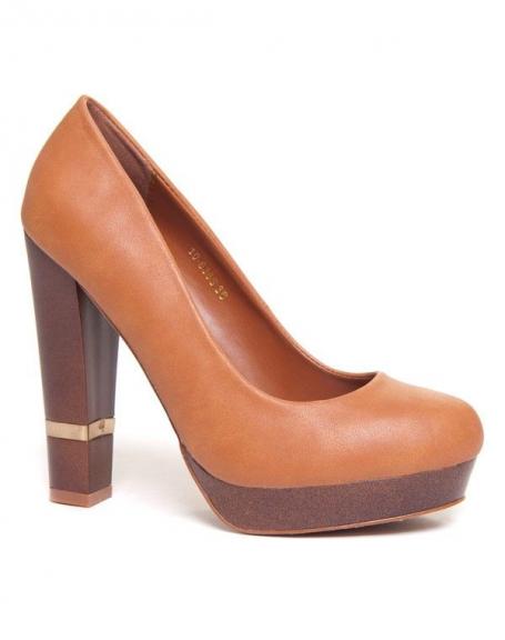 Épais Rpqrwxf4z Femme Bellucci Chaussures Camel Escarpins Talons À N8wv0mynO