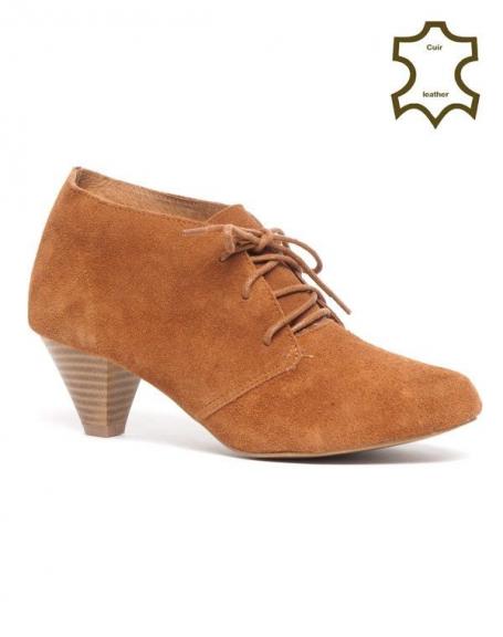 Chaussures femme Bellucci: Richelieu Cuir camel
