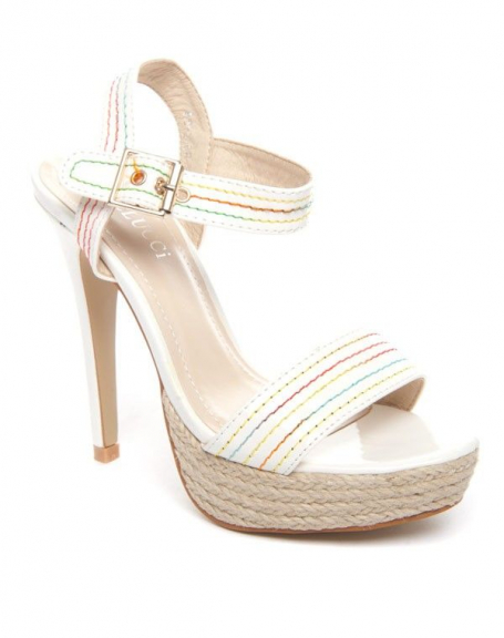 Chaussures femme Bellucci: Sandale blanche