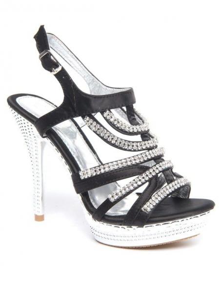 Chaussures femme Belluci: Escarpins noirs ouverts à strass
