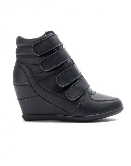 Chaussures femme Bo'aime: Basket compensé - noir