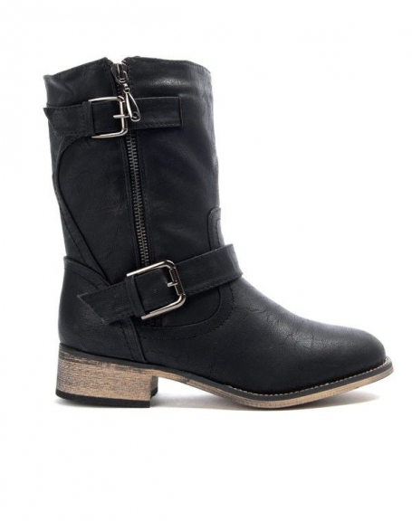 Chaussures femme Bo'aime: Batte à talon - noir