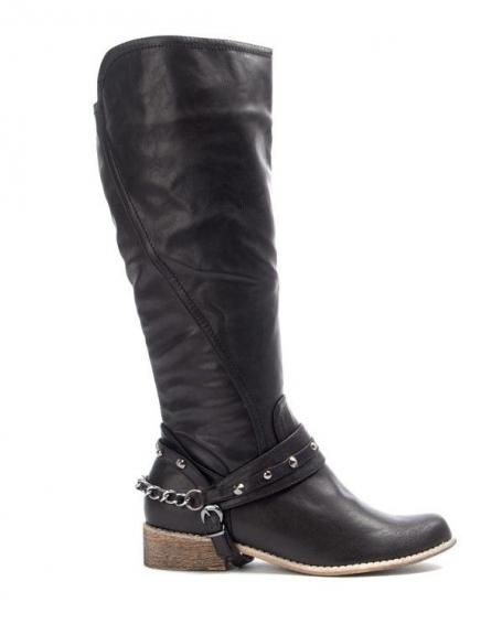 Chaussures femme Bruna Rossi: Botte haute avec ferrures - noir