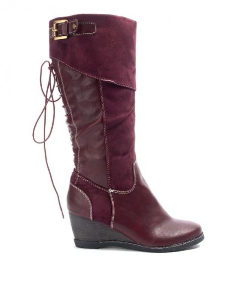Chaussures femme Bruna Rossi: Bottes compensées - bordeaux