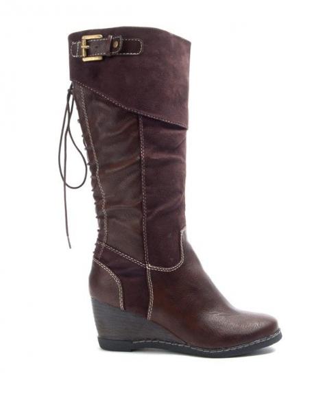 Chaussures femme Bruna Rossi: Bottes compensées - marron
