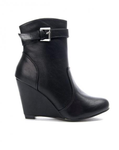 Chaussures femme Bruna Rossi: Bottine compensée à bride noire