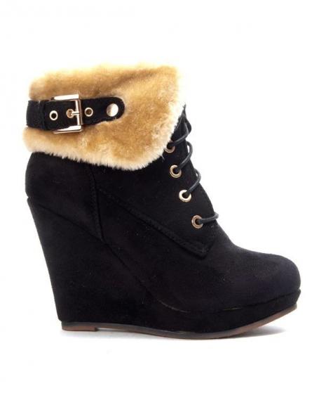 Chaussures femme Bruna Rossi: Bottine compensée fourrée noire