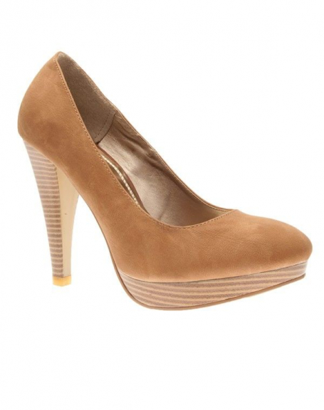Chaussures femme C.H. Creation: Escarpins camel