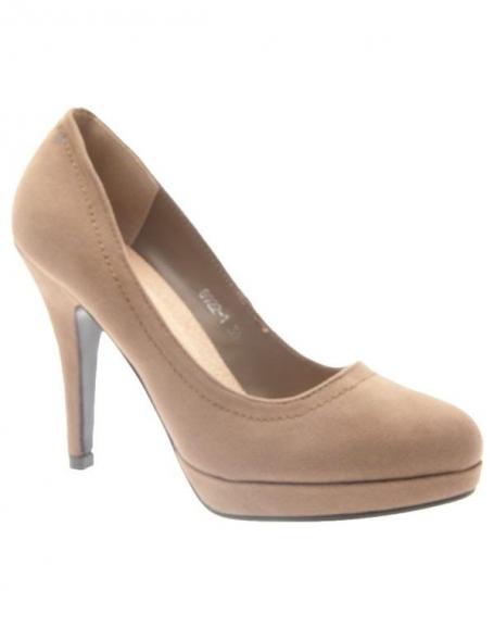 Chaussures femme C.H. Creation: Escarpins Kaki en suédine